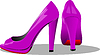 Vector clipart: Fashion woman pink shoes.