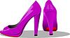 Vektor Cliparts: Fashion Frau rosa Schuhe.