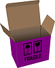 Vector clipart: carton opened box over white