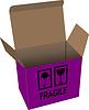 Vektor Cliparts: Karton geöffnet Box über weiße