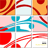Vector clipart: geometrical mosaic abstract pattern