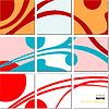 Vektor Cliparts: geometrischen Mosaik-abstraktes Muster