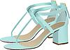 Vector clipart: Fashion woman light blue shoes.