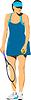 Vector clipart: Woman Tennis player