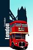 Abdeckung für Broschüre mit Bildern London.