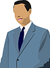 Vector clipart: Businessman stands and speaking