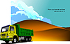 Desert landscape with Tipper image | Stock Vector Graphics