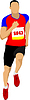 Vector clipart: running people