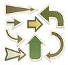 Экологически стрелки | Векторный клипарт