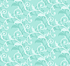 Vector clipart: floral curl seamless
