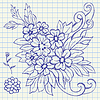 Vector clipart: Floral drawing