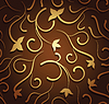 Vector clipart: Brown floral seamless