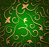 Vector clipart: floral seamless green