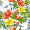 Vector clipart: flower decor seamless