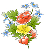 Vector clipart: bunch of flowers