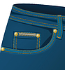 Vector clipart: Front pocket of jeans