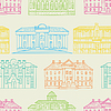 Vector clipart: House pattern color