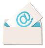 Vector clipart: Envelope with email symbol