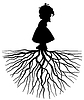 Vector clipart: girl with root
