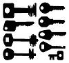 Vector clipart: Nine keys silhouette