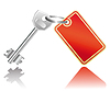 Vector clipart: Key with label