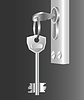 Vector clipart: Two keys