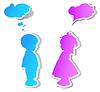 Дети речи пузырь | Векторный клипарт