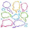 Vector clipart: speech bubbles line