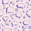 Speech bubbles sketch pattern