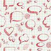 Vector clipart: Speech bubbles skech seamless