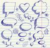 Vector clipart: Speech bubbles sketch