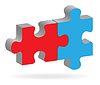 Vector clipart: Two puzzles