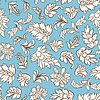 Vector clipart: Flowers and leaves seamless