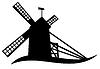 Vector clipart: windmill silhouette
