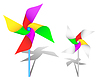 Vector clipart: Colorful windmill toy
