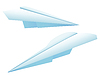 Vector clipart: Paper plane two