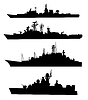 Vector clipart: Ship silhouettes