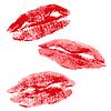 Vector clipart: Lips imprint