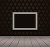 Vector clipart: Vintage black interior with frame