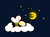 Vector clipart: Bee sleeping