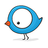 Vector clipart: Cute cartoon bird