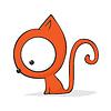 Vector clipart: Cute cartoon cat