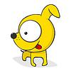 可爱的卡通狗 | 向量插图
