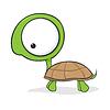 Big-eyed żółw | Stock Vector Graphics