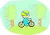 Vector clipart: Cute biker