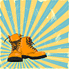 Vector clipart: hand-drawn boots