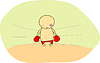 Vector clipart: Cute doodle of boxer