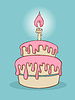 Birthday cake | Stock Vector Graphics