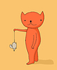 Vector clipart: Cat holding mouse