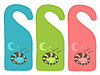 Vector clipart: Cute door hanger